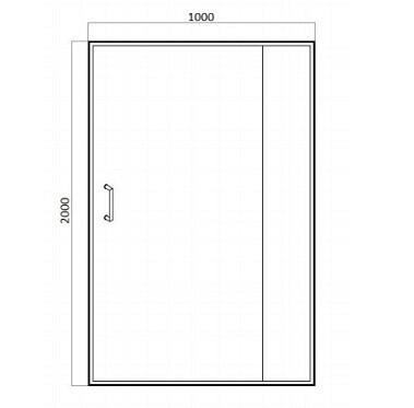 Душевая дверь Bravat Blackline BD100.4121B 100х200