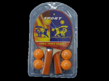 Набор для настольного тенниса (2 ракетки, 4 шарика): 1070