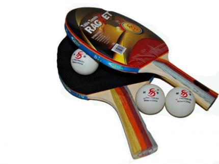 Набор для настольного тенниса (2 ракетки, 3 шарика, чехол): 3215