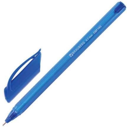"""Ручка шариковая масляная BRAUBERG """"Extra Glide Tone"""", СИНЯЯ, трехгранная, узел 0,7 мм"""