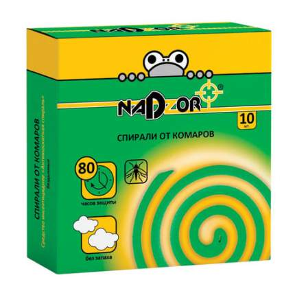 Спираль от комаров Nadzor 604913 ISM004C 10 шт.