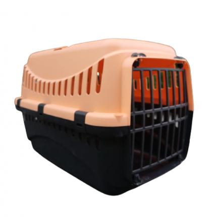 Переноска для кошек Bergamo Gipsy Porta с пластиковой дверцей, 46x31x32 см, оранжевая