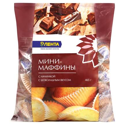 Мини-маффины Лента с начинкой с шоколадным вкусом 465 г
