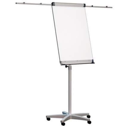 Доска-флипчарт магнитно-маркерная (70х100 см), передвижная, держатели для бумаги, 2х3