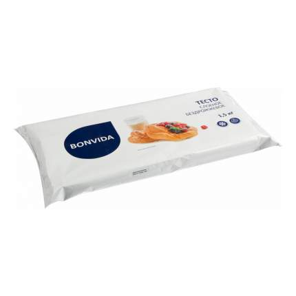 Тесто Bonvida слоеное бездрожжевое замороженное 1,5 кг