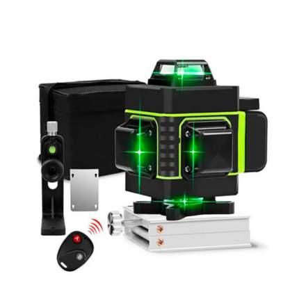 Лазерный уровень-нивелир Hilda 4D/16 линейный, профессиональный, зеленый луч.