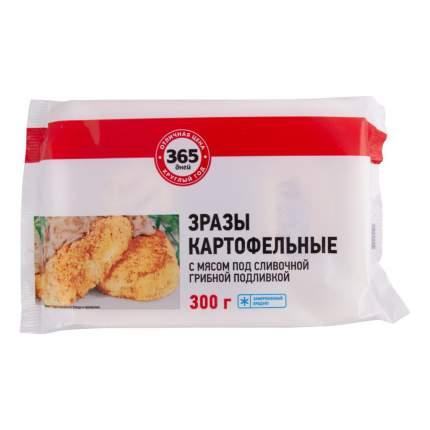 Зразы 365 дней картофельные с мясом под сливочно-грибной подливкой замороженные 300 г