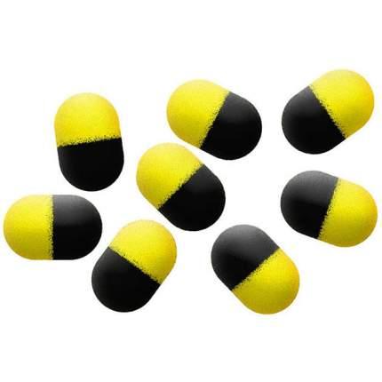 Искуственная насадка Mikado ZIG RIG POP UP плавающ., 9 шт., черно-желтые
