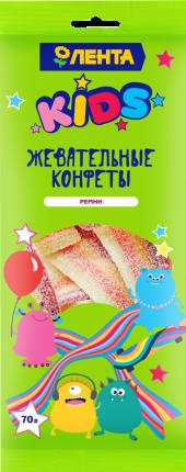 Жевательные конфеты Лента Kids Ремни 70 г