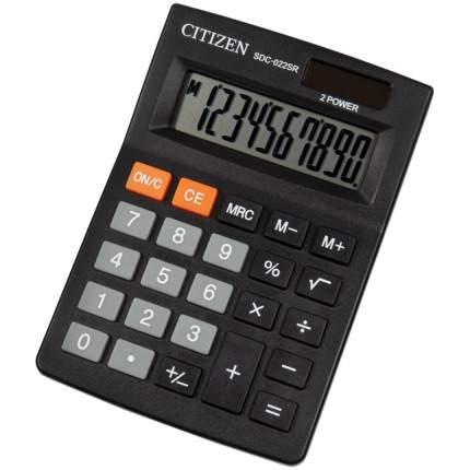 """Калькулятор настольный """"Citizen SDC-022SR"""", 10 разрядов, 87x127x23 мм, черный"""