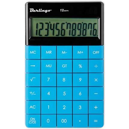 Калькулятор настольный, 12 разрядов, двойное питание, 165x105x13 мм, синий