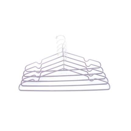 "Вешалка-плечики, металл,  набор 5 шт., ""Termico"",  40.5x20.5 см, фиолетовая"