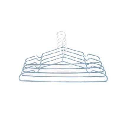 """Вешалка-плечики, металл,  набор 5 шт., """"Termico"""",  40.5x20.5 см, голубая"""
