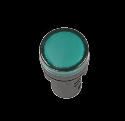 Лампа IEK  AD16DS(LED)матрица d16мм зеленый 24В AC/DC