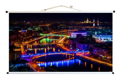 Экран для видеопроектора ПРО-ЭКРАН 200 на 112 см