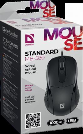 Мышь Defender MB-580 Standard Black