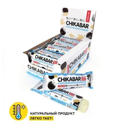 Батончик протеиновый глазированный с начинкой CHIKALAB Chikabar Хрустящее печенье 20х60 г