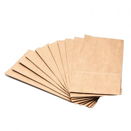 Пакет крафт без ручек 12*8*25, набор 10 шт.
