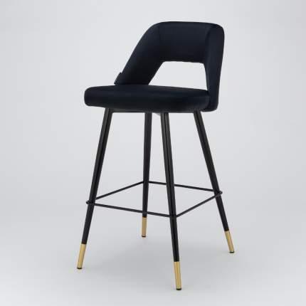 Барный стул Hudson черный велюр StoreForHome / BY-22-BLACK