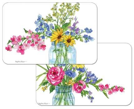 Комплект сервировочных салфеток Conimar Цветы в банке 4 шт