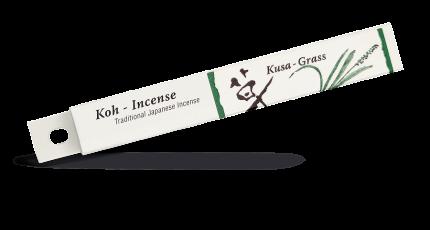 Благовония Shoyeido Kusa - трава (121723), 35 ароматических палочек 13,5 см + подставка