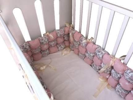 Бортик в кроватку KERTEX KITTY PINK Бонбон, 6 предметов