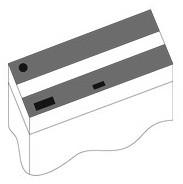 Комплект пластиковых крышек для Juwel Lido 120, 2 шт., черный
