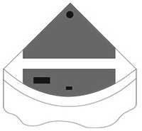 Комплект пластиковых крышек для Juwel Trigon 190, черный