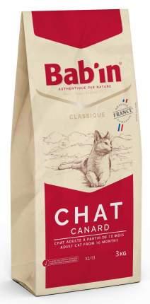 Сухой корм для кошек Babin CLASSIQUE CHAT CANARD, утка, 3кг