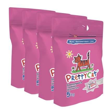 Комкующийся наполнитель для кошек PrettyCat Euro Mix ЛАПКИ бентонитовый, 5 кг, 10 л, 4 шт