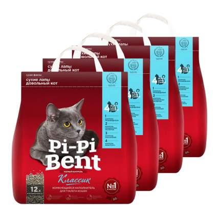 Комкующийся наполнитель для кошек Pi-Pi Bent Classic глиняный, 24 кг, 48 л,