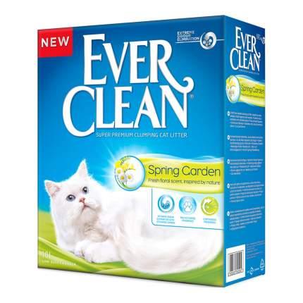 Комкующийся наполнитель для кошек Ever Clean Spring Garden глиняный, угольный 9,5кг, 10 л,