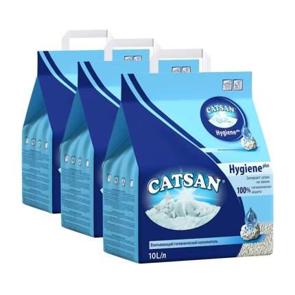 Впитывающий наполнитель для кошек Catsan Гигиена песочный, 5 кг, 10 л, 3шт