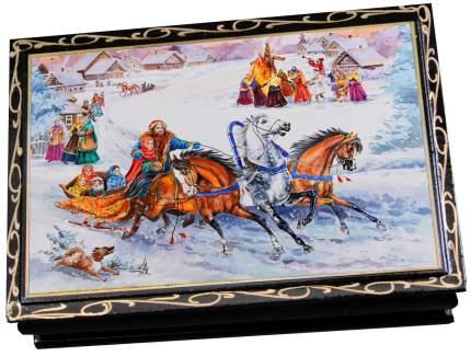Чернослив КРЕМЛИНА шоколадныйс миндалем в сувенирной шкатулке 'Масленица'