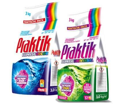 Clovin/ Набор для стирки (Стиральный порошок PRAKTIK color 3 кг +  PRAKTIK universal 3 кг