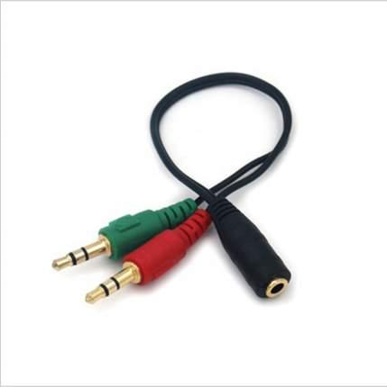 Переходник GSMIN RT-16 Mini Jack 3.5 мм 4pin на микрофон и наушники 2 x Mini Jack 3.5мм