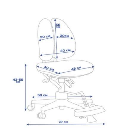 Кресло TCT Nanotec Duoback Chair с двойной спинкой и подставкой для ног, бирюзовое