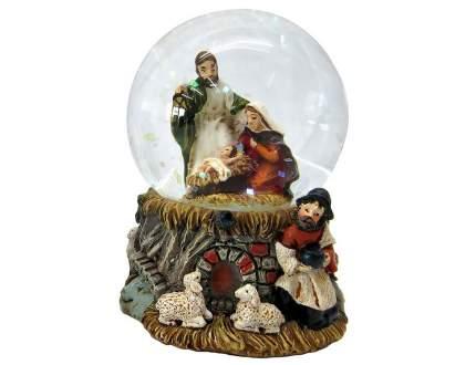 Снежный шар Sigro Святое семейство - Пастушки 6,5х5х5 см