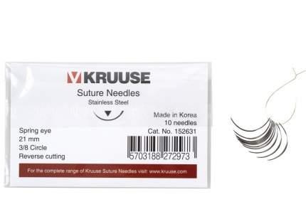 Набор режущих хирургических игл, 10 шт, в ассортименте, Kruuse 21 мм (3/8)