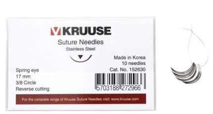 Набор режущих хирургических игл, 10 шт, в ассортименте, Kruuse 17 мм (3/8)