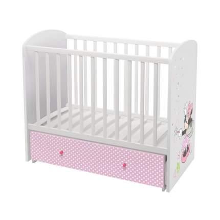 Комплект Polini kids Disney baby Минни Маус, кровать-трансформер + комод