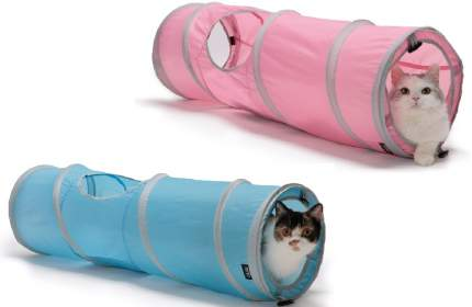 Туннель для кошек шуршащий  Kitty City, Космос Kitty Tunnel, 28*91 см, в ассортименте