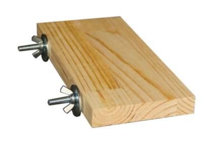 Игрушка для грызунов ПарротсЛаб Деревянная полочка, дерево, бежевый 3х10х20см