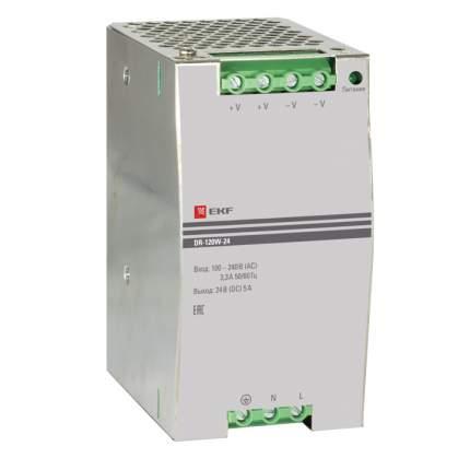 Блок питания 24В DR-120W-24 EKF PROxima