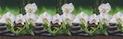 "Кухонный фартук ""Белая орхидея"" 3000*600 мм, АБС пластик, термоперевод"