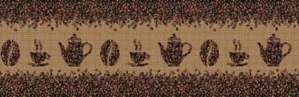 "Кухонный фартук ""Кофе в зернах"" 3000х600мм, АБС пластик, термоперевод"