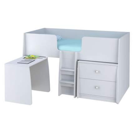 Комплект Polini Simple, кровать-чердак + комод + стол