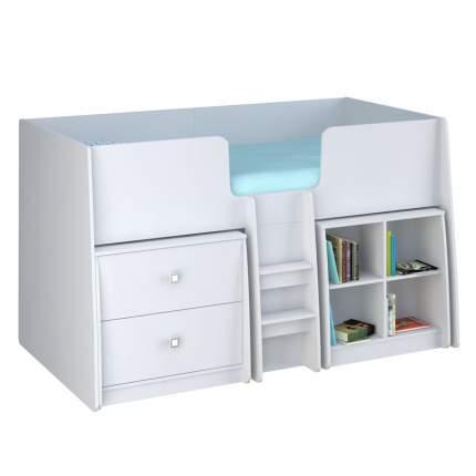 Комплект Polini Simple, кровать-чердак + стеллаж + комод