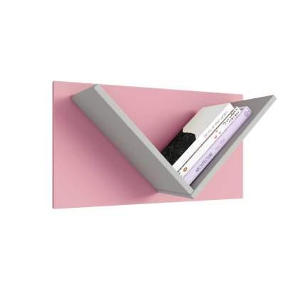 Полка Polini kids Mirum 5Y 600, серый-розовый