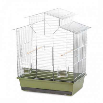 Клетка для птиц Duvo+ Natural Iza, зеленая, 51x30x60,5 см